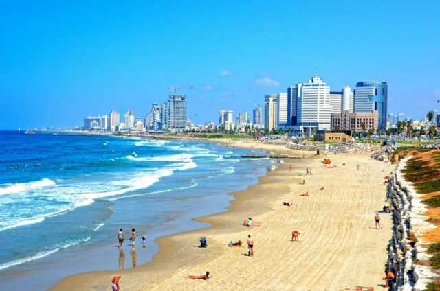 пляжные курорты в Израиле