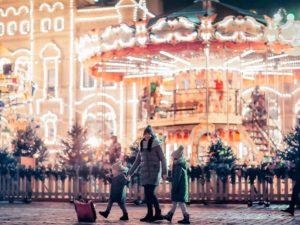 По новогодней Москве с детьми